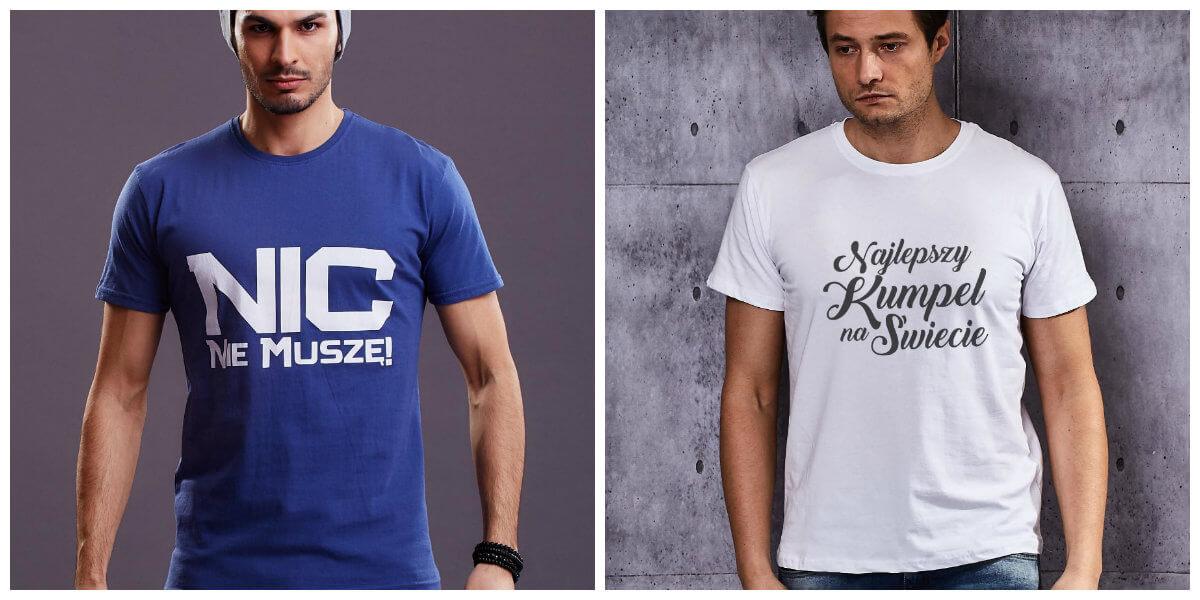 wiosenne t-shirty męskie