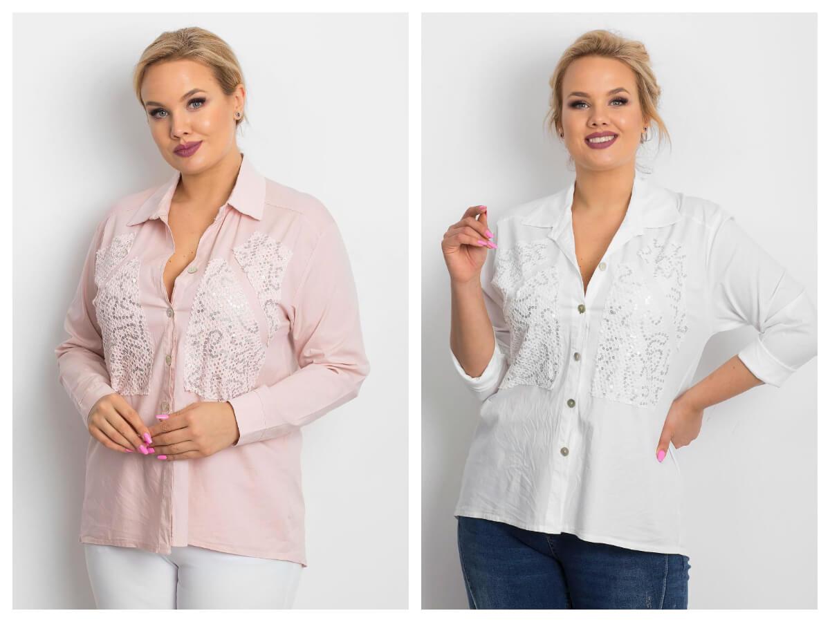 Białe koszule damskie w rozmiarze plus size