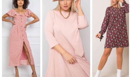 Różowe sukienki plus size