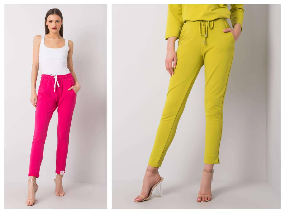 Spodnie dresowe w żywych kolorach