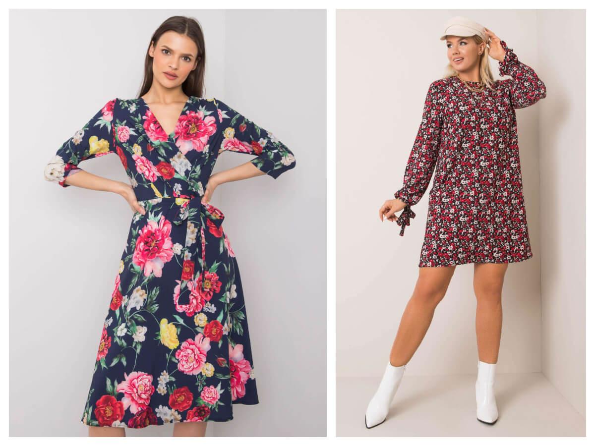 Sukienki midi w kwiaty