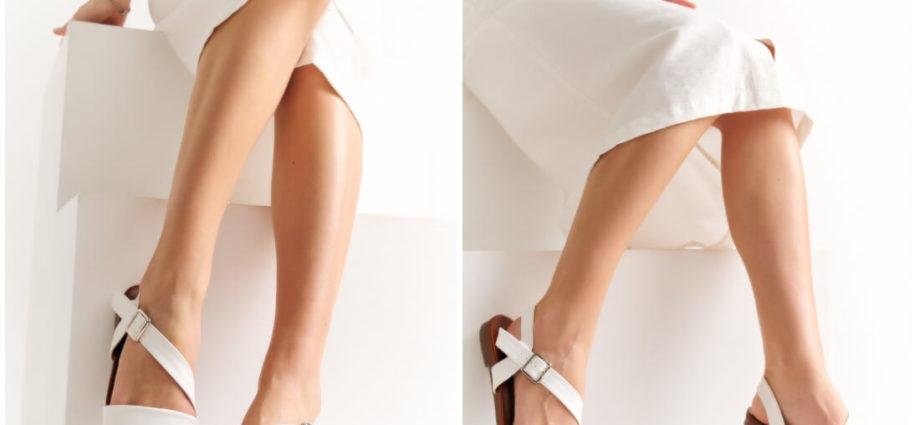 Buty damskie na lato - białe sandałki na niskiej podeszwie