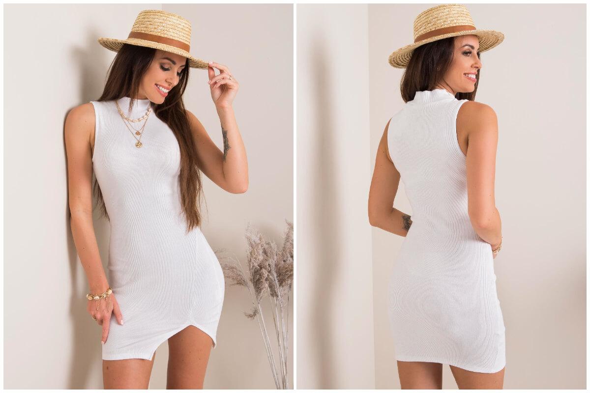 Dodatki do stylizacji damskich - słomkowy kapelusz w stylizacji z białą sukienką