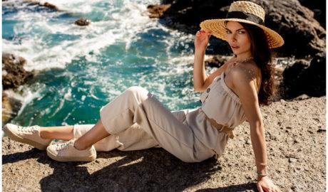 Dodatki do stylizacji damskich - słomkowy kapelusz