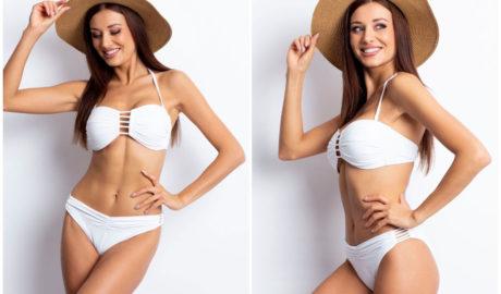 Stroje kąpielowe - biały dwuczęściowy kostium