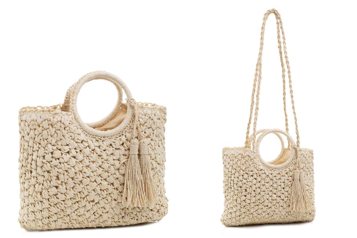 Plecione torebki kosze ze sztywnym uchwytem