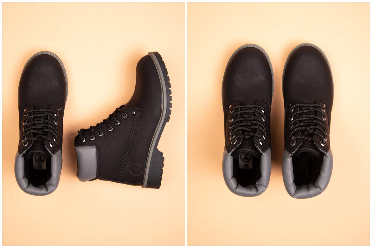 Buty na jesień - czarne traperki
