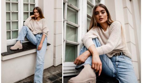 Jeansy damskie w modnych jesiennych stylizacjach