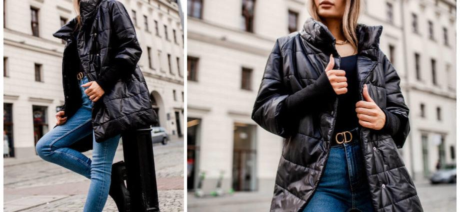 Jesienne pikowane kurtki damskie w angielskim stylu